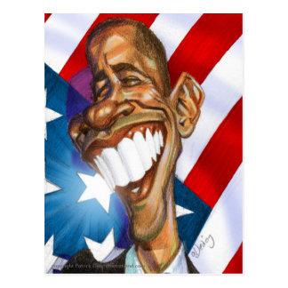 Farbpostkarte Obama Omage
