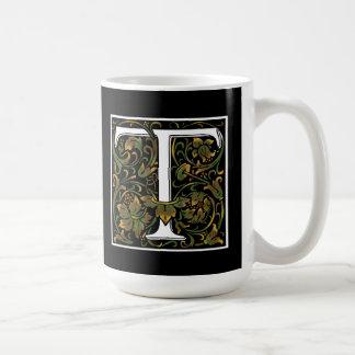 FarbTasse des Monogramm-T Kaffeetasse