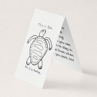 Farbton-Schildkröte-Parkstreich-Karte Visitenkarten