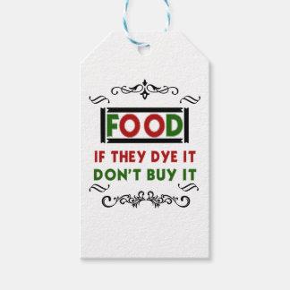 Färbungsnahrung essen Geschenkt-shirt Geschenkanhänger