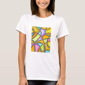 Farbwebart - abstrakter Kunst-T - Shirt