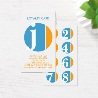Farbzerstampfungs-Loyalitäts-Briefmarke Visitenkarte