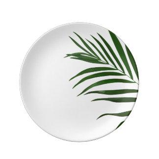 Farn-Blatt-dekorative Porzellan-Platte Teller