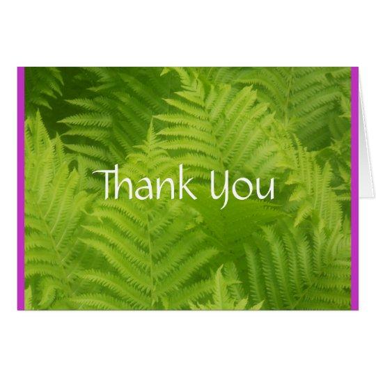 Farn-Garten danken Ihnen Karte