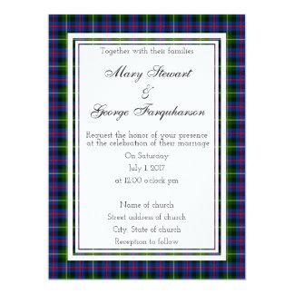 Farquharson schottische Hochzeits-Einladung Karte