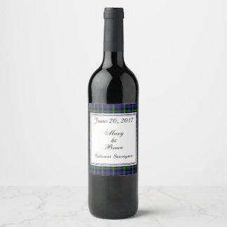 Farquharson schottischer Hochzeits-Wein-Aufkleber Weinetikett