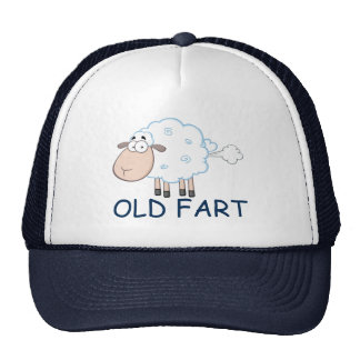 FARTING CARTOON-SCHAF-ALTER FURZ-HUT CAPS