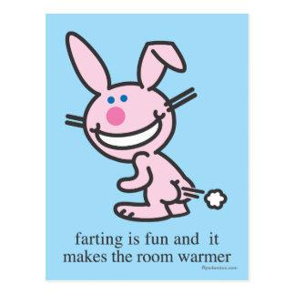 Farting ist Spaß Postkarte