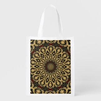 Fasan versieht Kaleidoskop mit Federn Wiederverwendbare Einkaufstasche