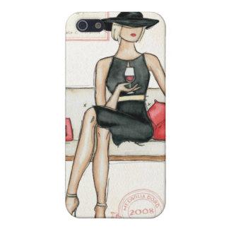 Fashionista-trinkender Wein iPhone 5 Cover