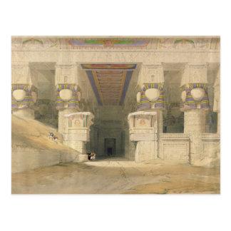 Fassade des Tempels von Hathor Postkarte