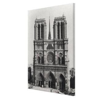 Fassade von Notre-Dame, Paris, Ende des 19. Jahrhu Galerie Gefaltete Leinwand
