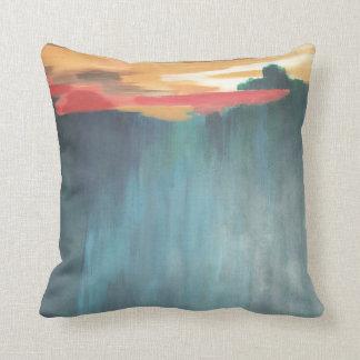 Fast aquamarine Wüste Santa- Fekissen-16X16 Kissen