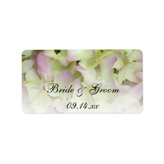 Fast rosa Hydrangea-Gastgeschenk Adressaufkleber