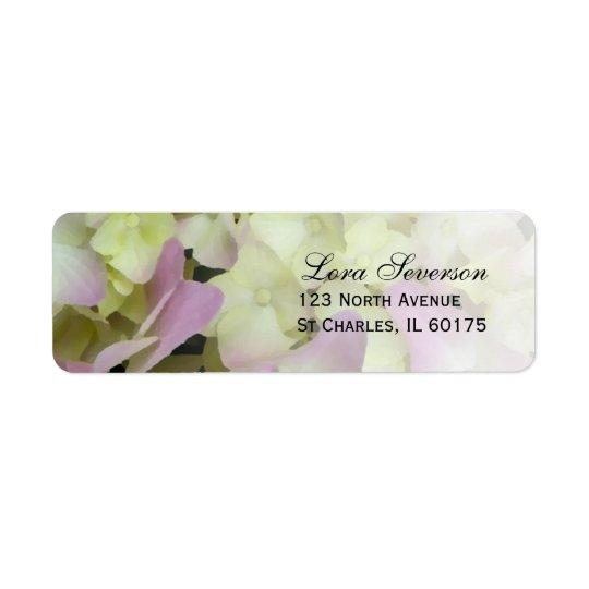 Fast rosa Hydrangea-Rücksendeadresse