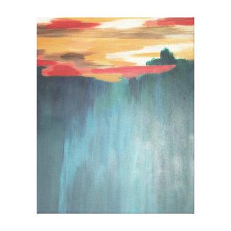 Fast zu abstrakter Malerei Santa Fe Leinwanddruck