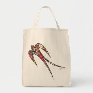 fatfatin Schwalben-Frühlings-Blumen-Taschen-Tasche Tragetasche