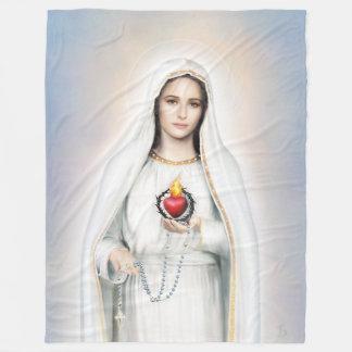 Fatima, tadellose Fleece-Decke des Herz-60x80 Fleecedecke