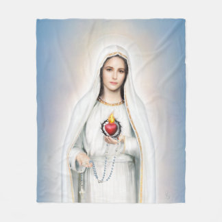 Fatima, tadelloses Herz-mittlere Fleece-Decke Fleecedecke