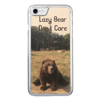 Fauler Bär interessieren sich nicht Carved iPhone 8/7 Hülle