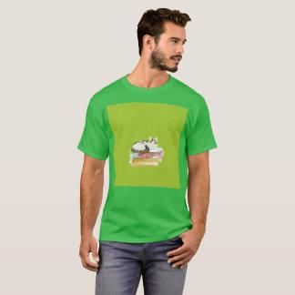 Faules Gato wagt Kunstwatercolor-seltenen T - T-Shirt