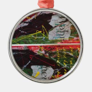 Faust 2 rundes silberfarbenes ornament