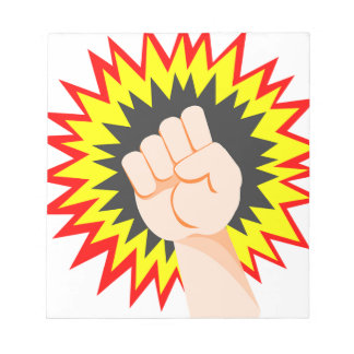 Faust-Handstärken-Arm-Power-Energie-Durchschlag Notizblock