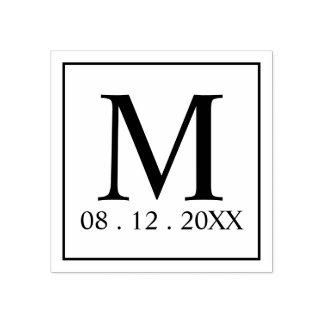Faveur moderne de mariage de monogramme