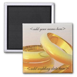 Faveurs de date de mariage magnets