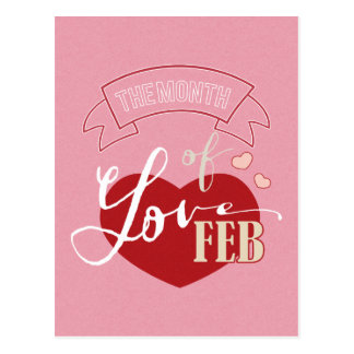 Februar - Monat der Liebe Postkarten