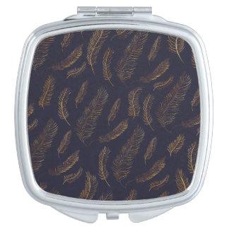 Feder-Muster Taschenspiegel