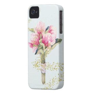 Fee abgewischter Magnolien-Blumenstrauß iPhone 4 Case-Mate Hüllen