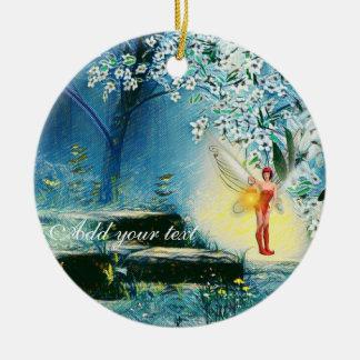 Fee beleuchtete Verzierung Keramik Ornament