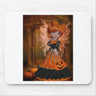 Fée de citrouille de Halloween Tapis De Souris