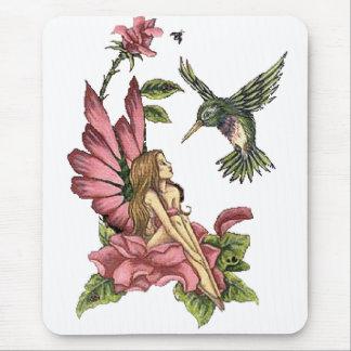 Fée de colibri tapis de souris