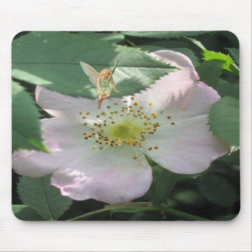 Fée de roseraie tapis de souris