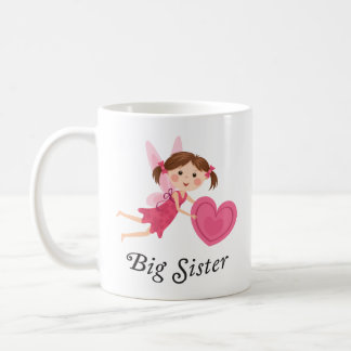 Fee der großen Schwester mit Liebeherzschale Kaffeetasse