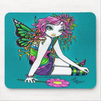 Fée en cristal Mousepad de papillon d'arc-en-ciel  Tapis De Souris