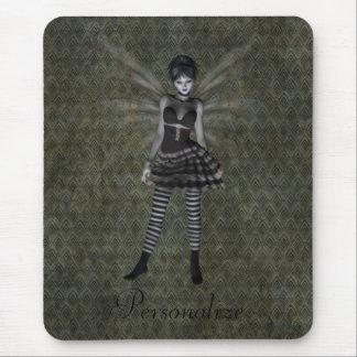 Fée gothique vintage mignonne personnalisée tapis de souris