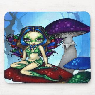 """""""Fée masquée sur les champignons"""" Mousepad Tapis De Souris"""