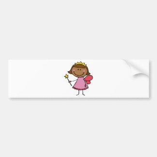 Fée mignonne dans une robe rose adhésifs pour voiture