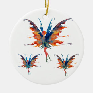 Fee mit Flügel Keramik-Dekoration Keramik Ornament