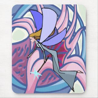 Fée mystique avec la fleur Mousepad Tapis De Souris