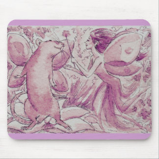 Fée pourpre de rat tapis de souris