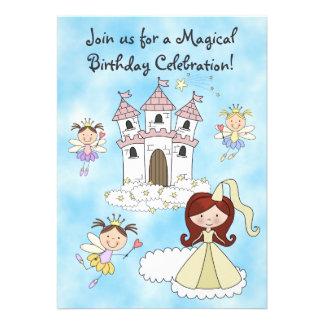 Fee- Prinzessin-und Schloss-Geburtstags-Einladung