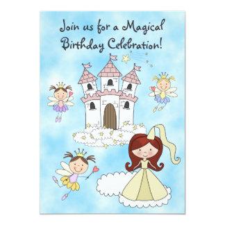 Fee-, Prinzessin-und Schloss-Geburtstags-Einladung 12,7 X 17,8 Cm Einladungskarte