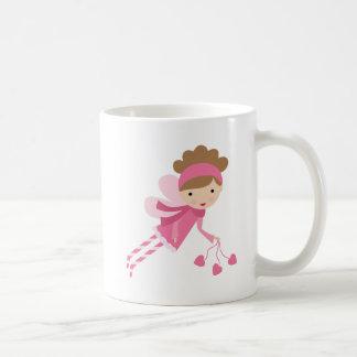 Fée rose mug blanc