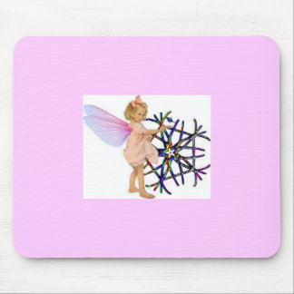 Fée rose tapis de souris