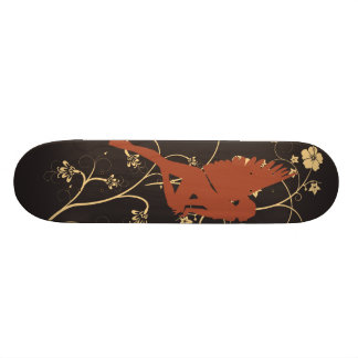 Fée rouge plateaux de skateboards