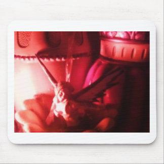 fée rouge tapis de souris